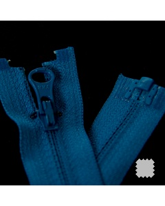 Zip YKK spirálový vel. 3 - modrý dělitelný reverzní - 60 cm