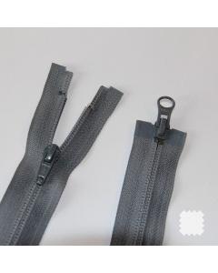 Zip YKK spirálový vel. 5 - šedý dělitelný - 76 cm - 2 jezdce