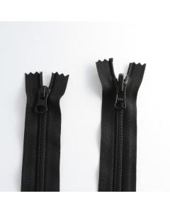 Zip YKK spirálový vel. 5 - černý nedělitelný - 100 cm - 2 jezdce (překlopný + klasický)