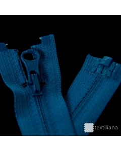 Zip YKK spirálový vel. 3 - modrý dělitelný reverzní- 63 cm