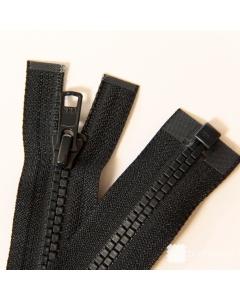 Zip YKK kostěný Vislon Flat vel. 5 - carbon dělitelný - 77 cm