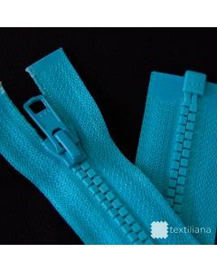 Zip YKK kostěný Vislon Flat vel. 5 - tyrkysový dělitelný - 61 cm