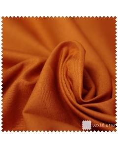 Vzorek - Pružné bavlněné plátno - Oranžová